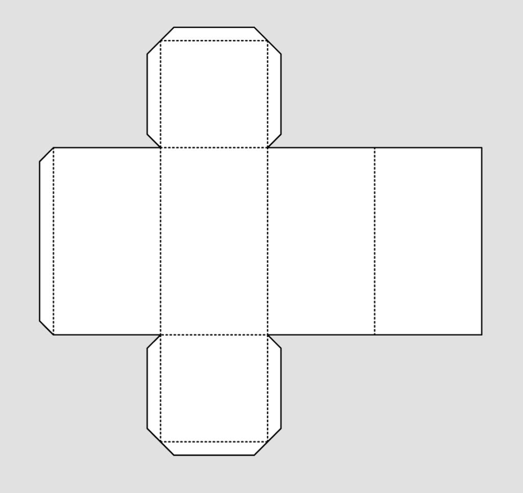 Макет параллелепипеда 2
