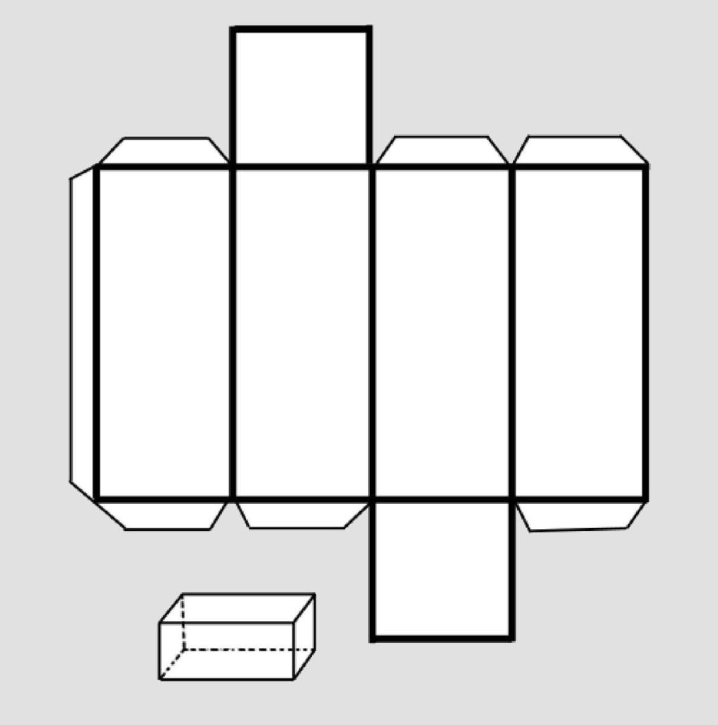 Макет параллелепипеда 3