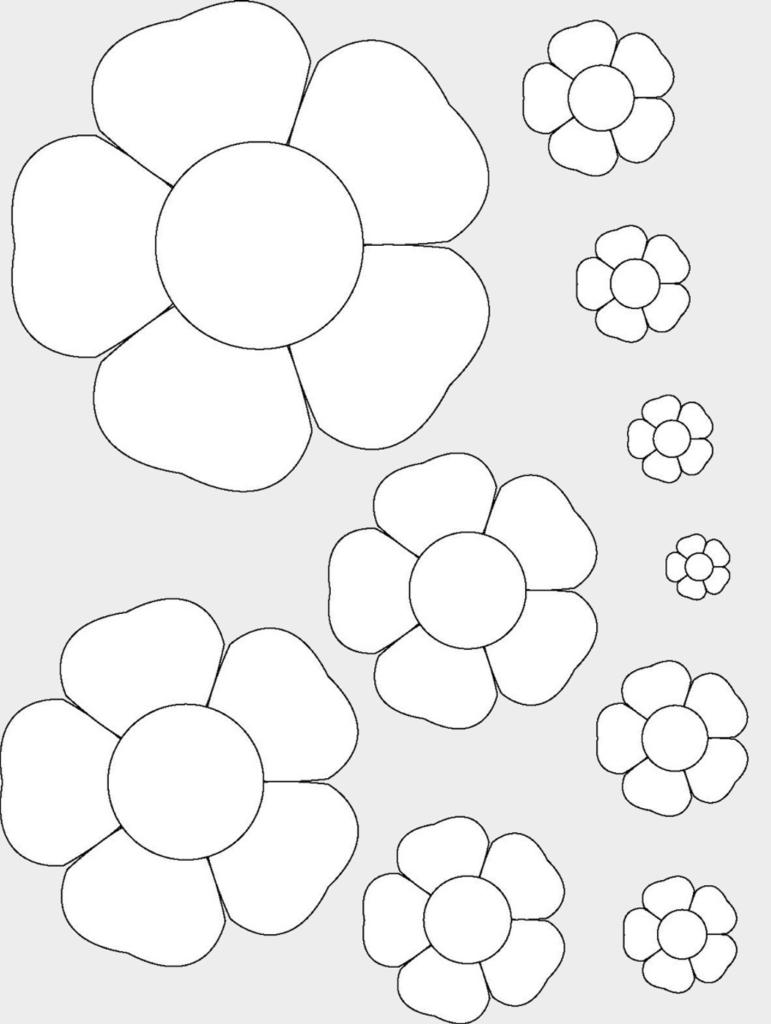 Макет цветов 1
