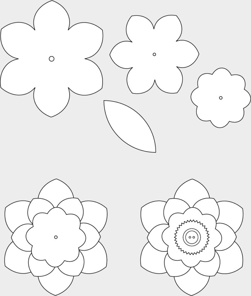 Макет цветов 7