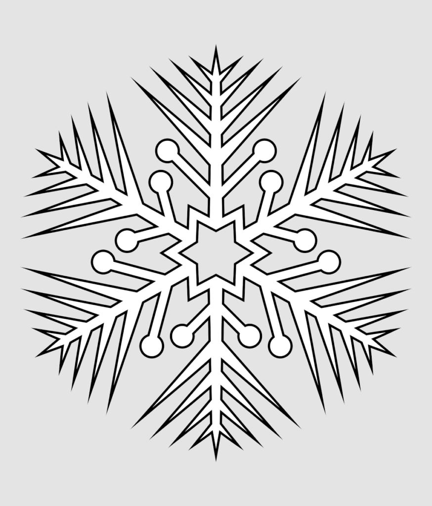 Макет снежинки 1