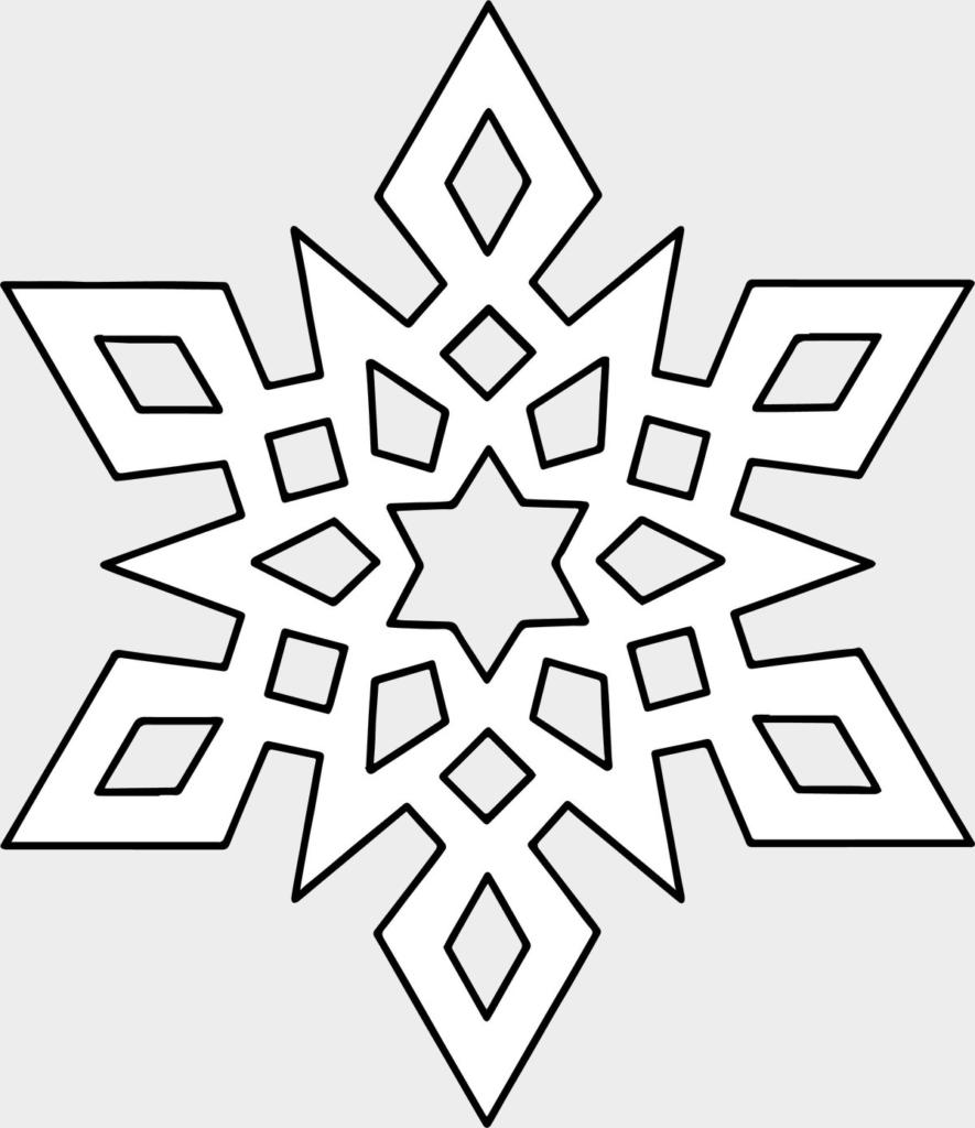 Макет снежинки 10