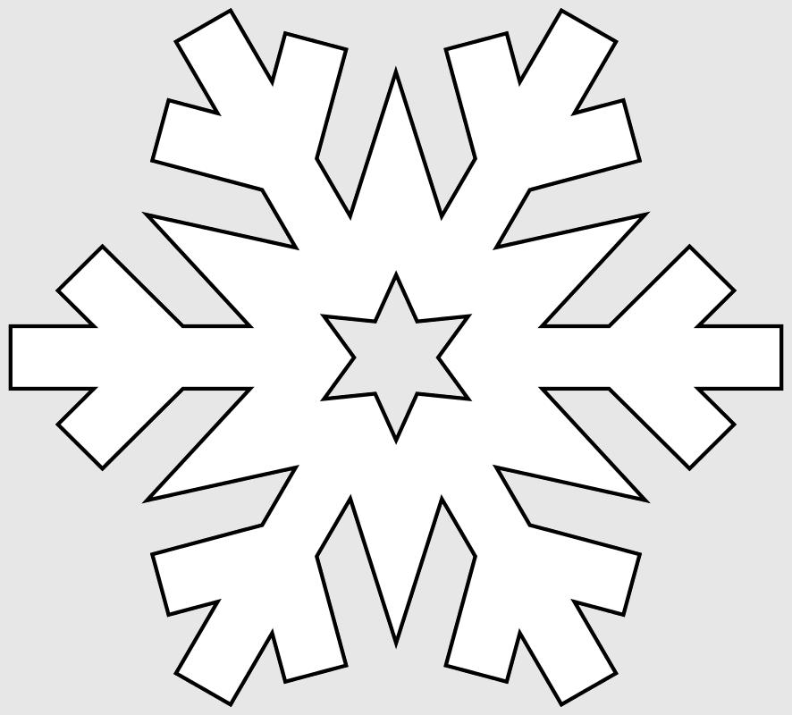 Макет снежинки 3