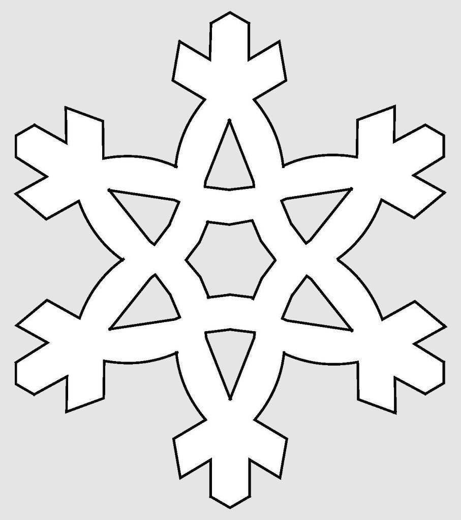 Макет снежинки 4