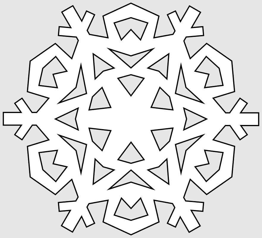Макет снежинки 6