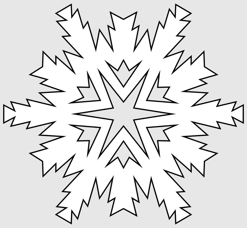 Макет снежинки 7