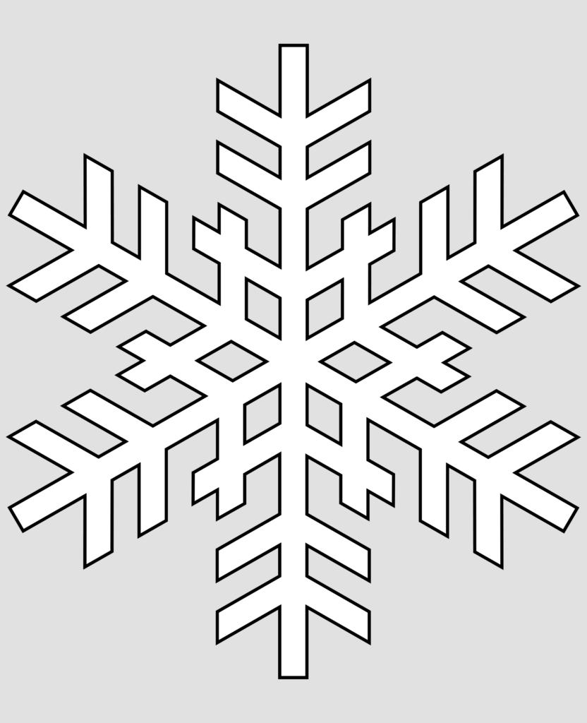 Макет снежинки 8