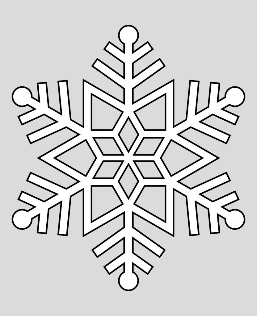 Макет снежинки 9