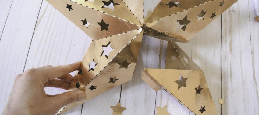 Как сделать объемный макет звезды?